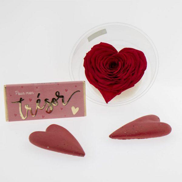 """Composition """"Rose éternelle amore"""" & gourmandises"""